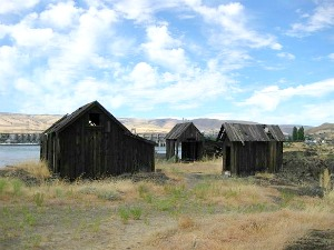 Remnants of the Lone Pine Tree Indian Village.  The Dalles, OR.  Photo: KGilb.