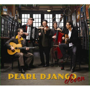 Seattle gypsy jazz band's newest CD titled Eleven. Cover Credit: Pearl DJango.
