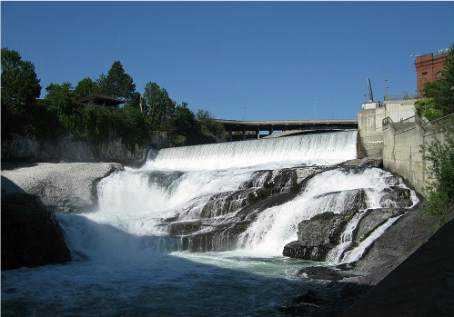 Spokane's lower falls. Photo: KGilb